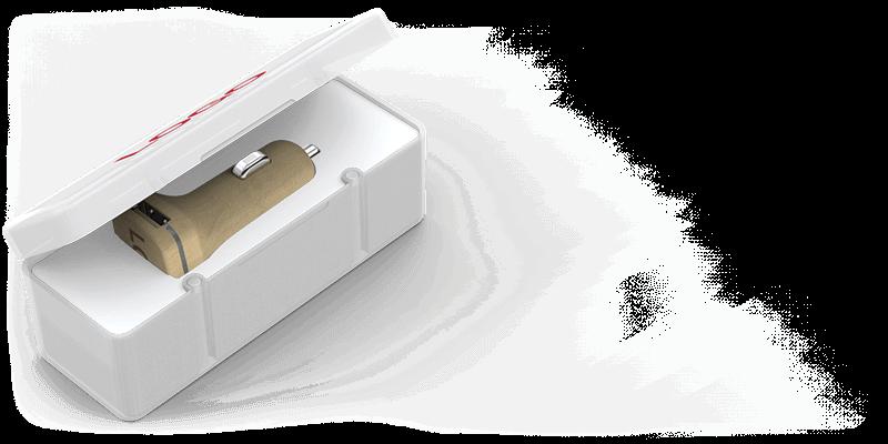 Woodie - Gepersonaliseerde USB Auto lader