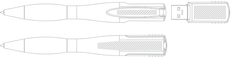 USB Geheugenpen Zeefdruk