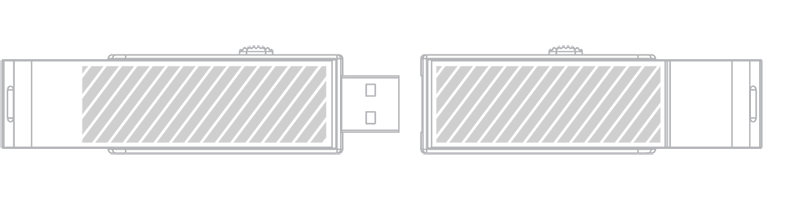 USB stick Laser gravering