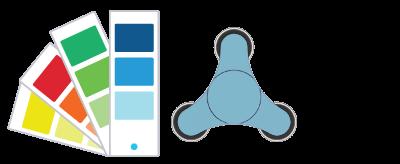 Pantone® Referentie Fidget Spinner